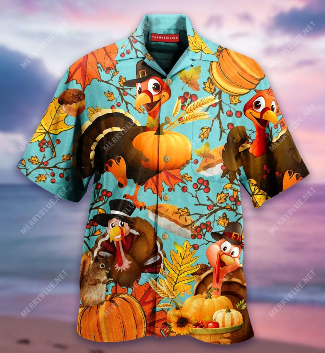 thanksgiving turkey full printing hawaiian shirt 5