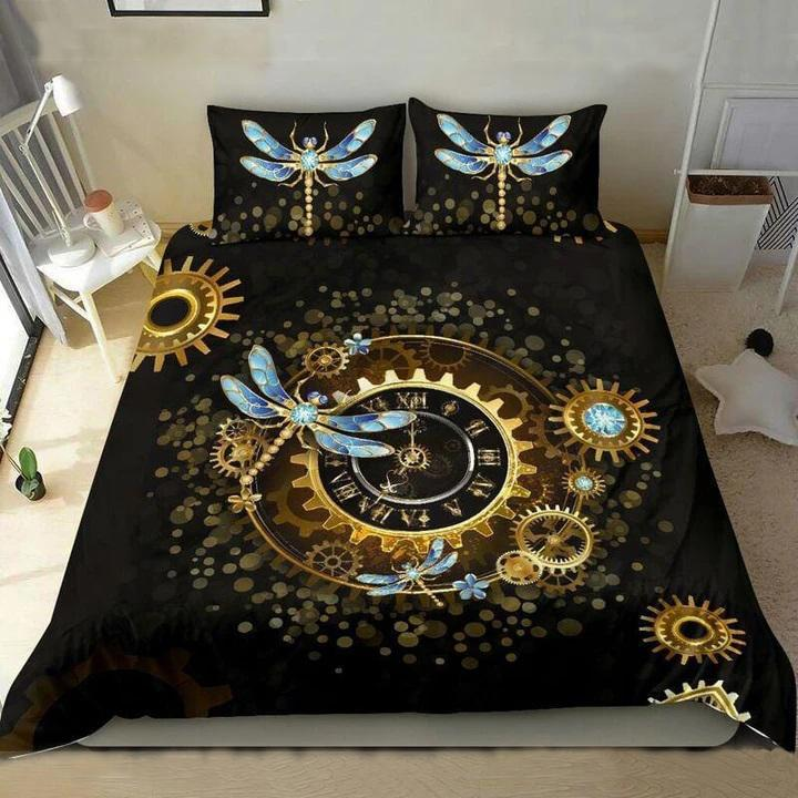 the dragonfly watch all over printed bedding set 2