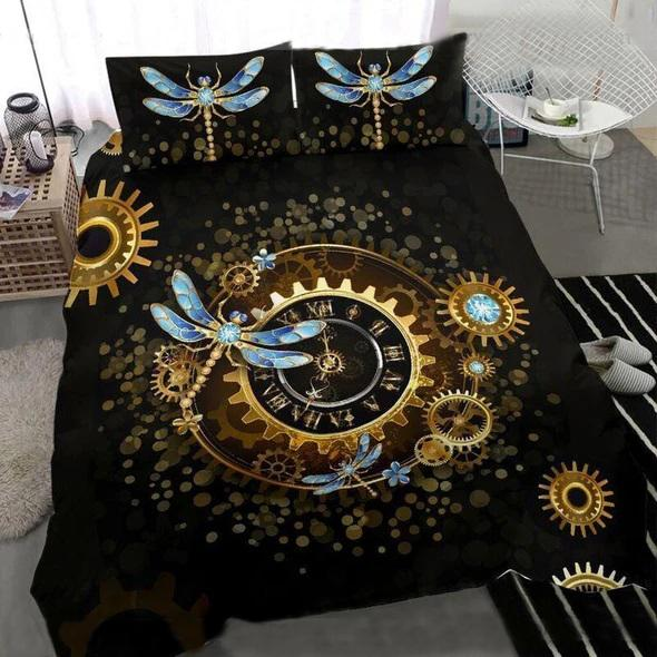the dragonfly watch all over printed bedding set 4