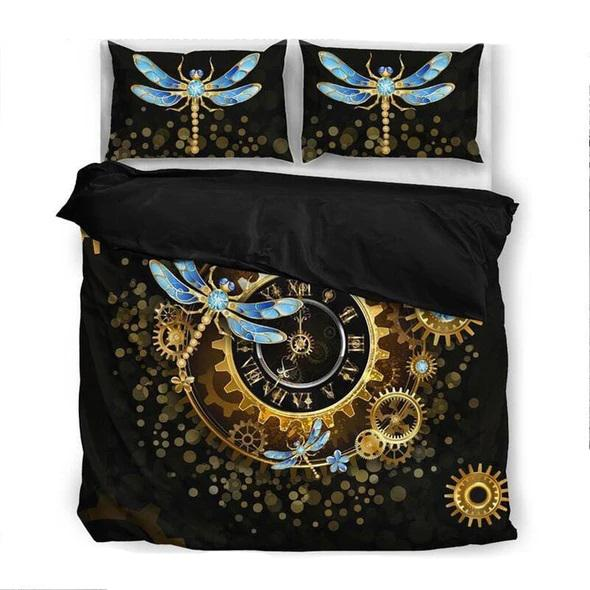 the dragonfly watch all over printed bedding set 5