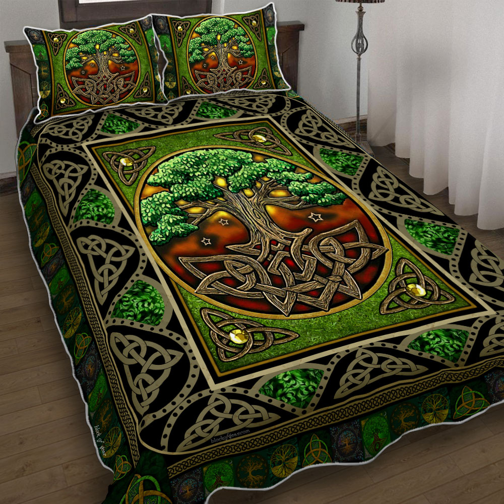 tree of life irish tree of life st patricks day all over printed bedding set 4