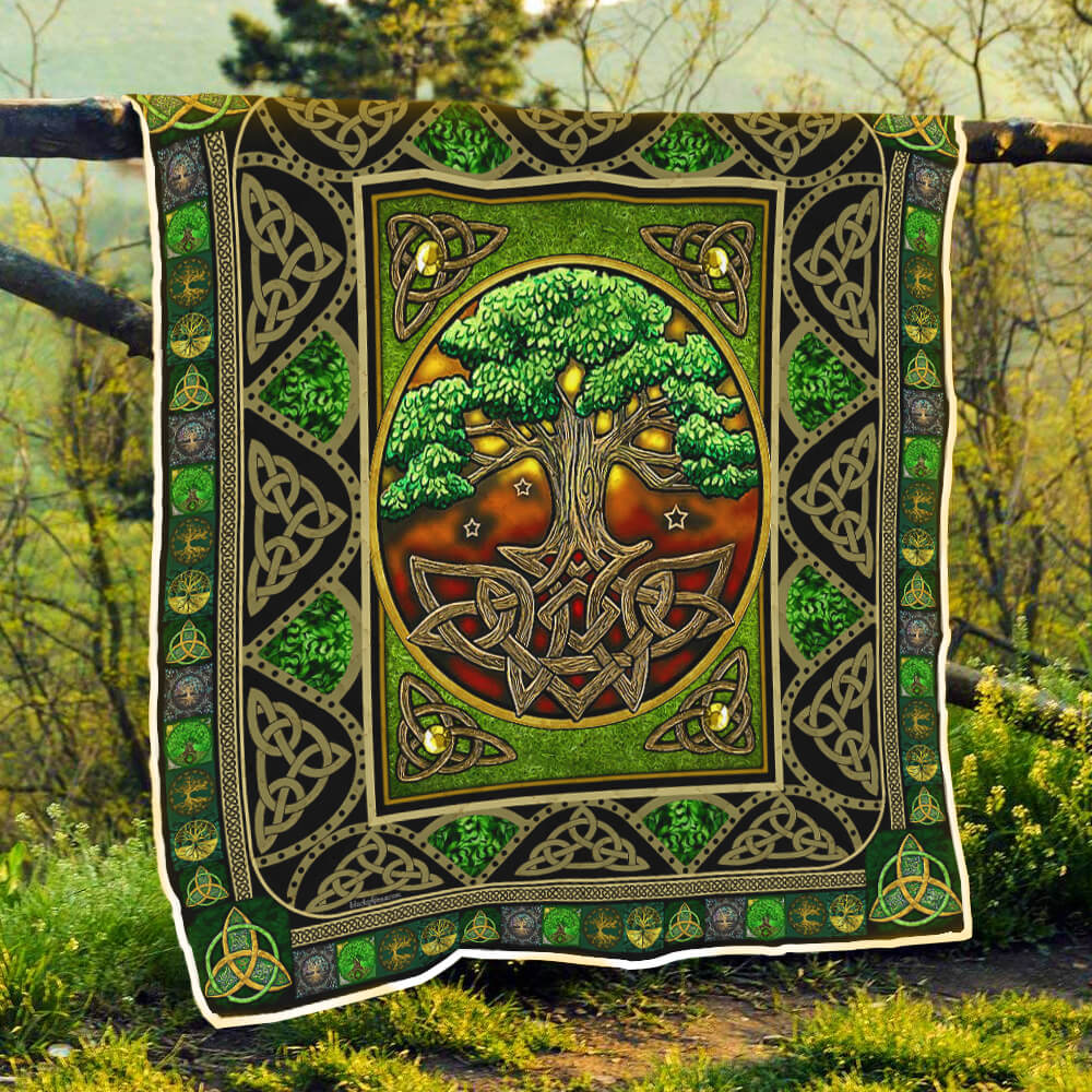 tree of life irish tree of life st patricks day all over printed quilt 3