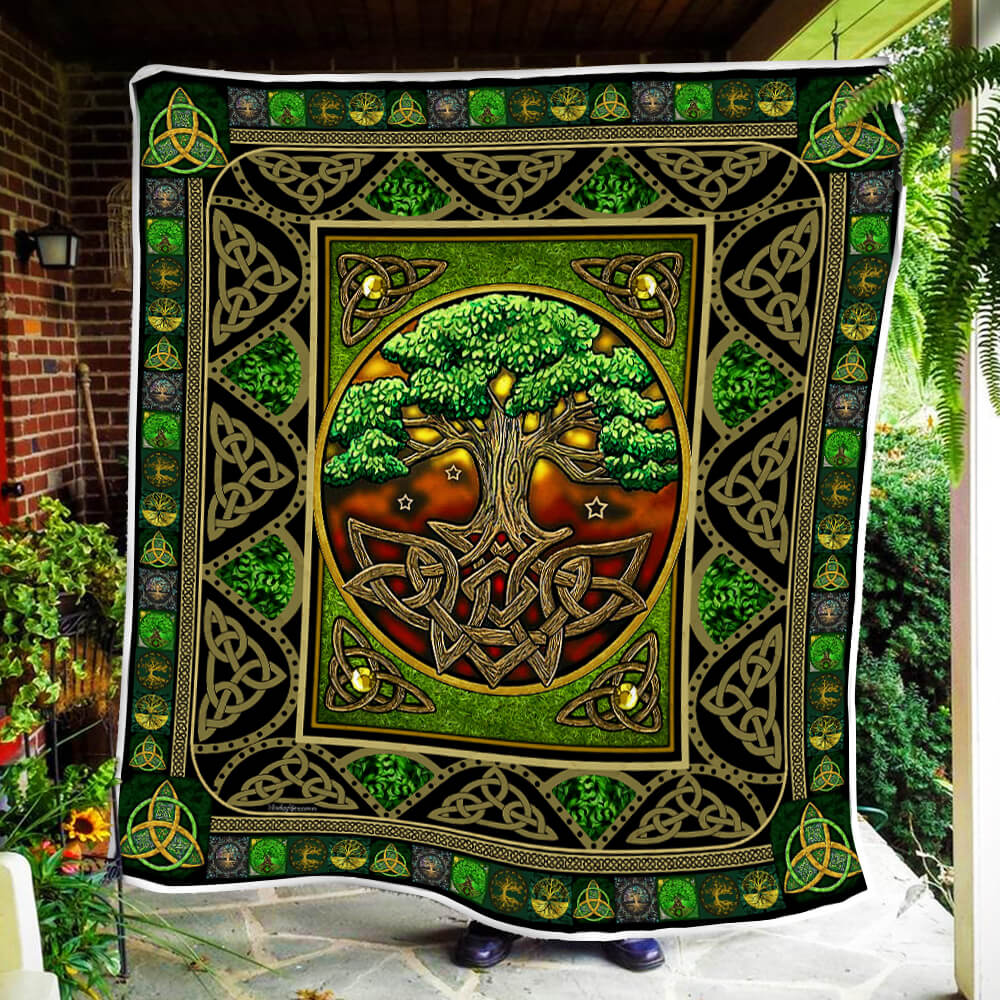 tree of life irish tree of life st patricks day all over printed quilt 4