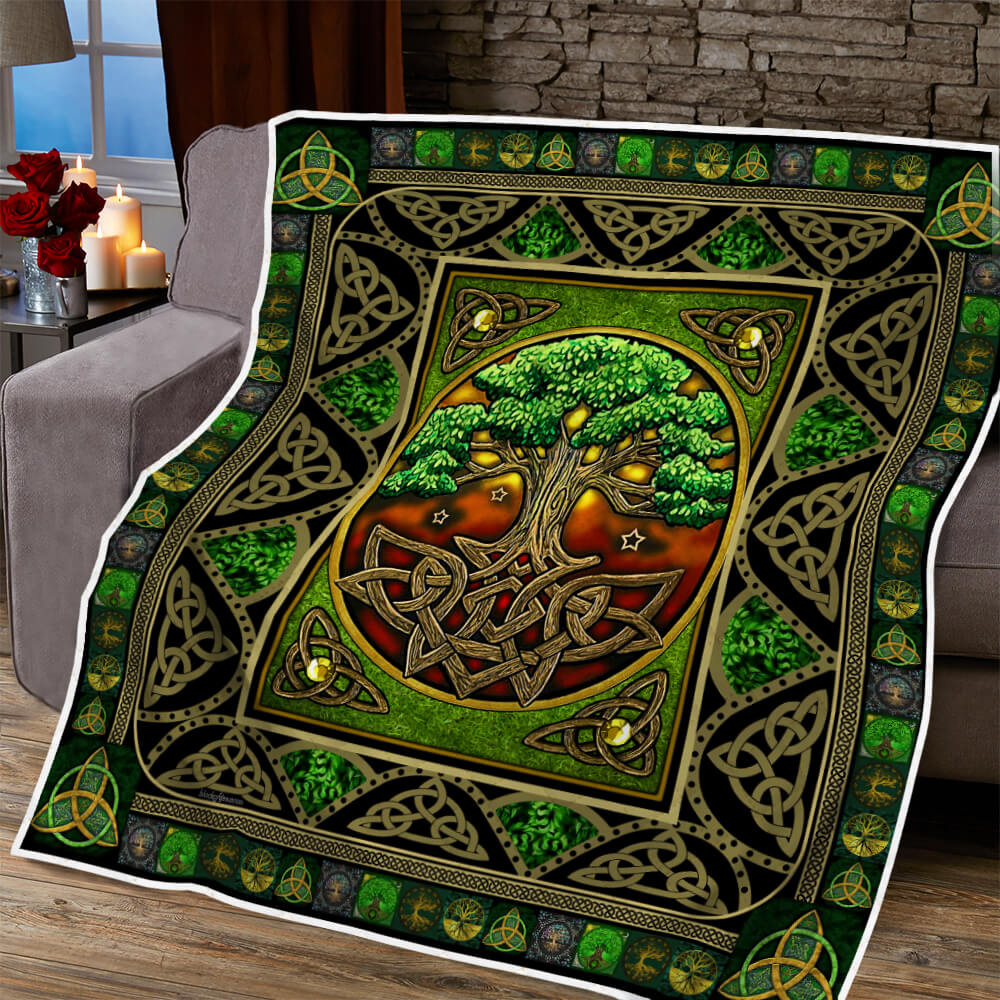 tree of life irish tree of life st patricks day all over printed quilt 5