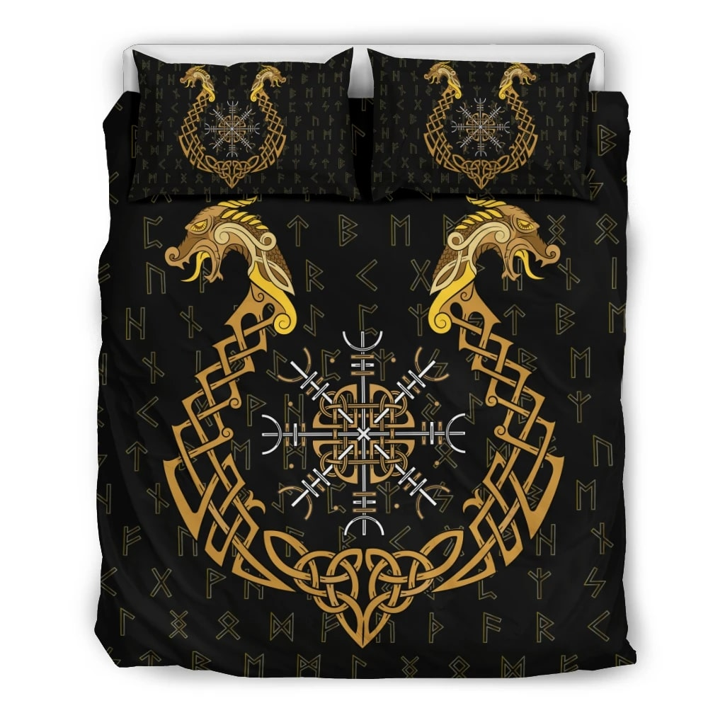 viking helm of awe all over printed bedding set 4