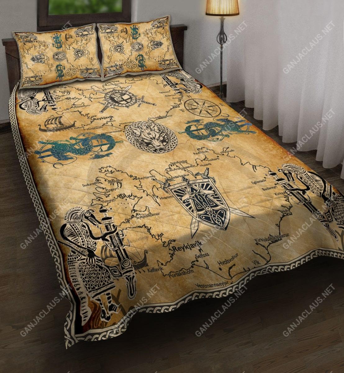 viking symbol full printing bedding set 5