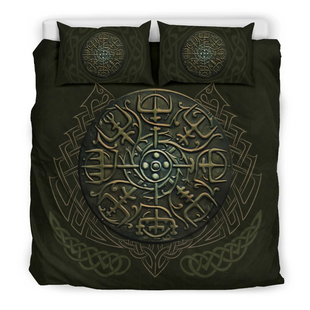 viking the helm all over printed bedding set 3