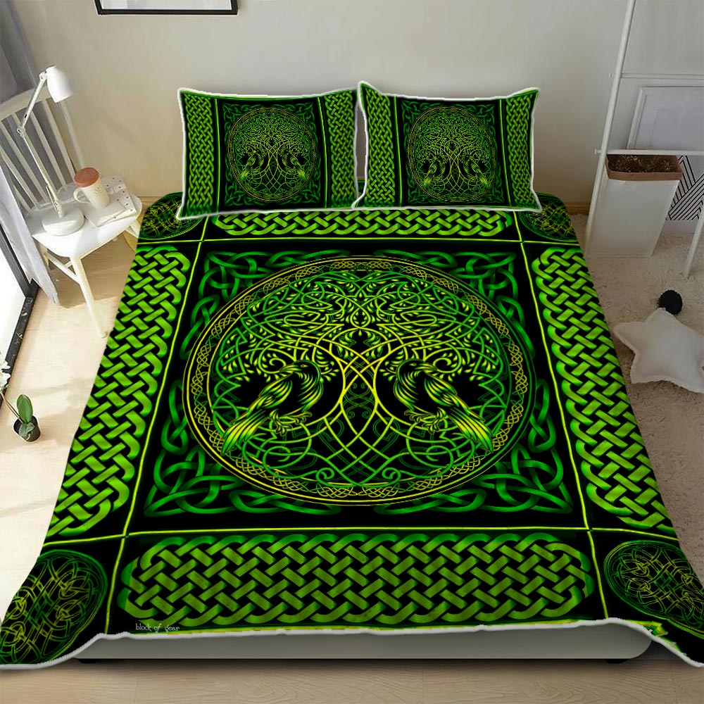 viking tree of life all over printed bedding set 2