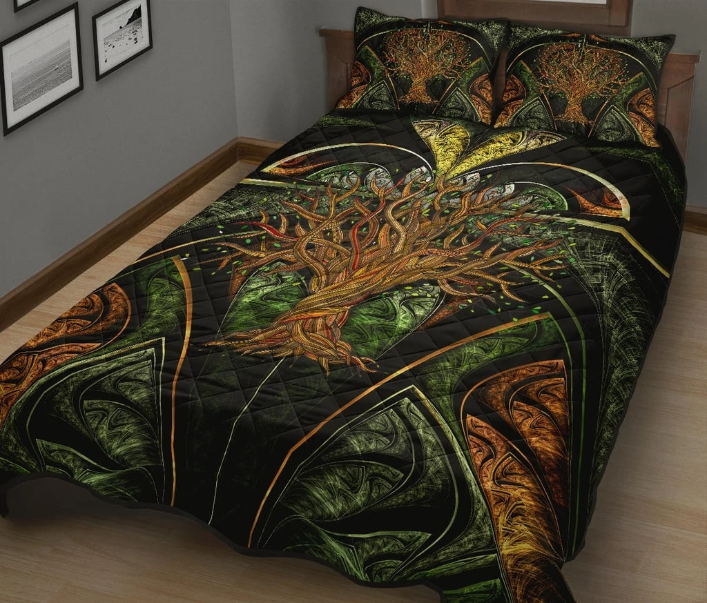 viking tree of life all over printed bedding set 3