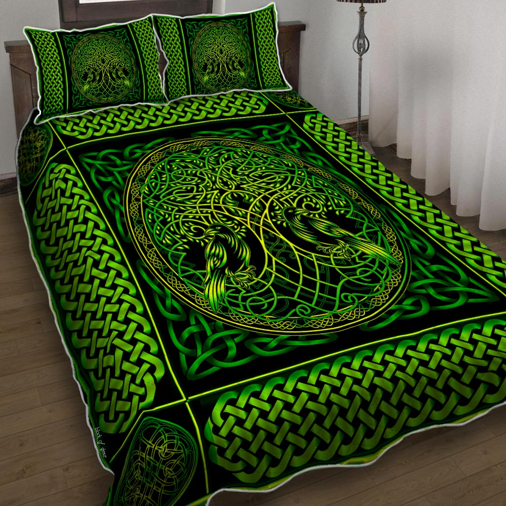 viking tree of life all over printed bedding set 4