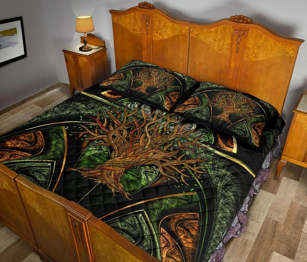 viking tree of life all over printed bedding set 5