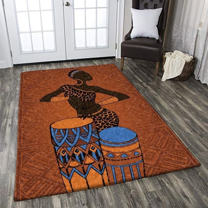 vintage african women aztec tribal ethnic all over printed rug 3