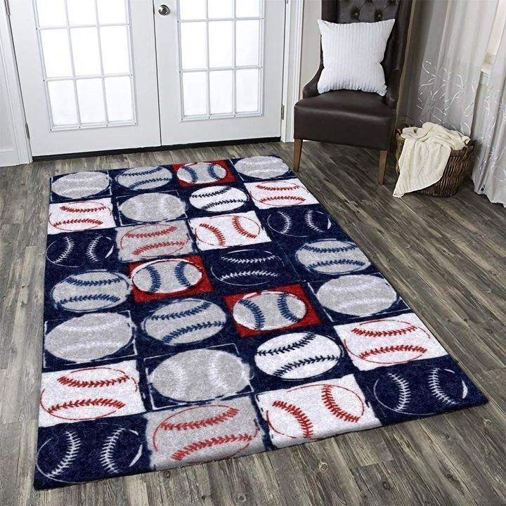 vintage baseball fan all over printed rug 2