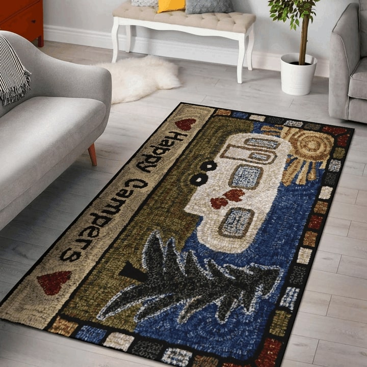 vintage happy camper all over printed rug 2