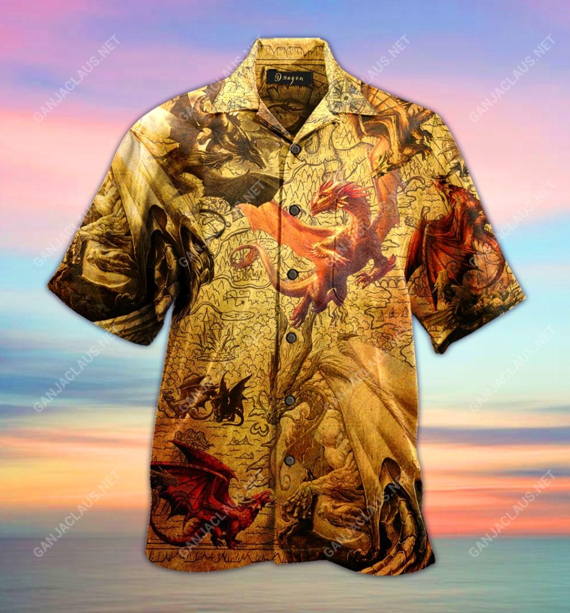 world map dragon full printing hawaiian shirt 5