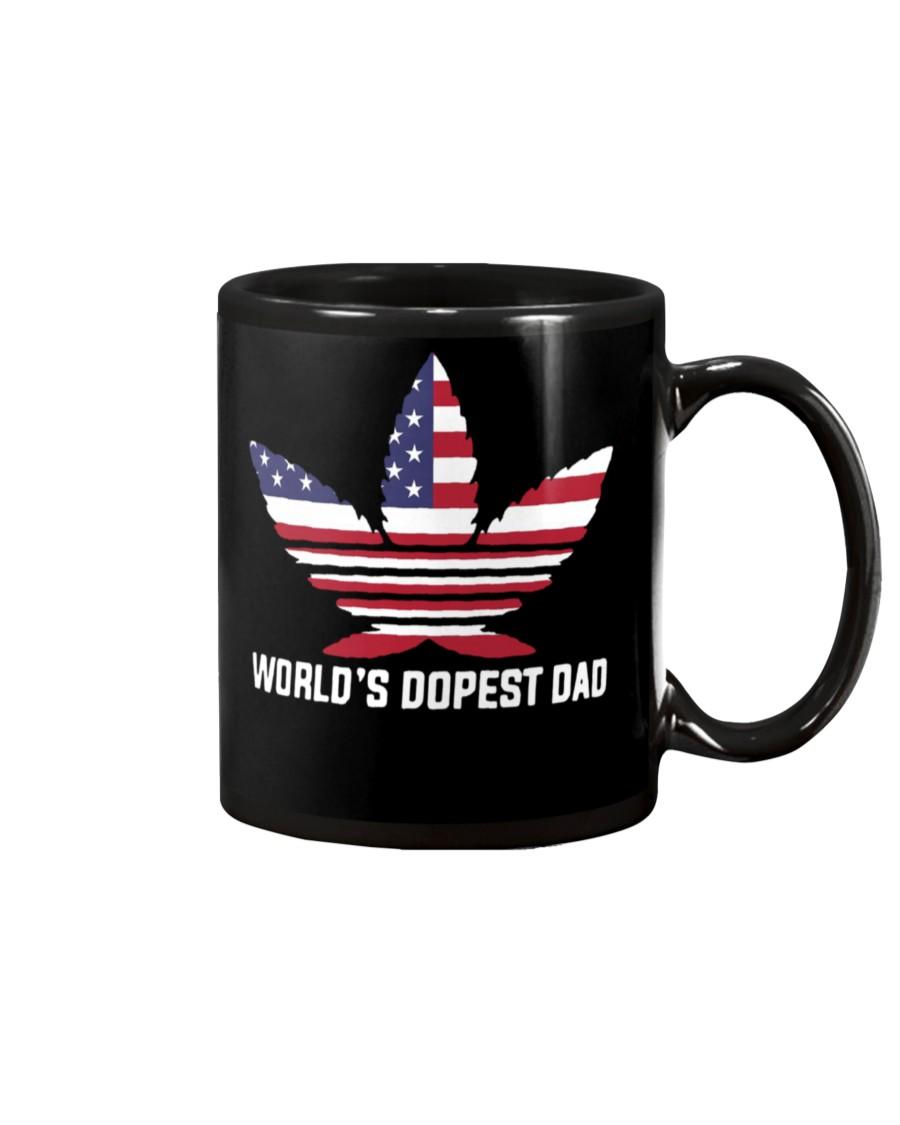 worlds dopest dad weed leaf mug 2