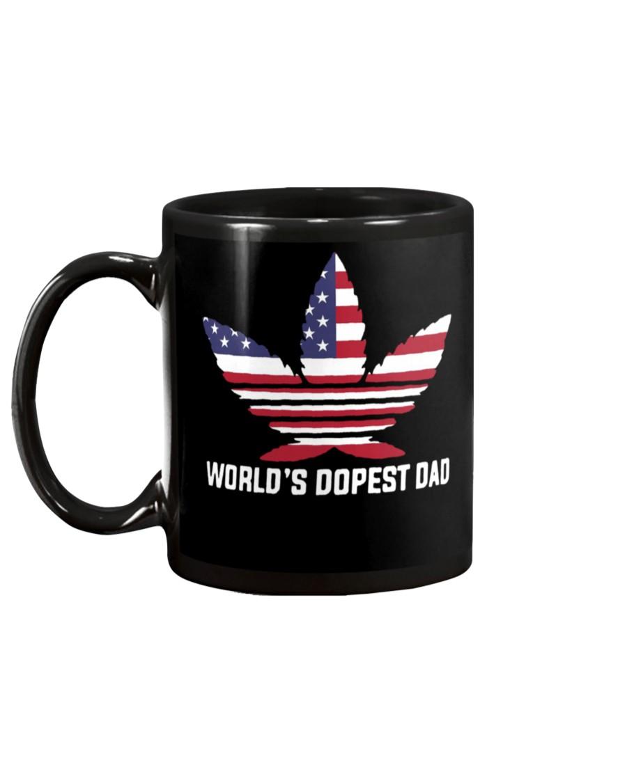 worlds dopest dad weed leaf mug 4