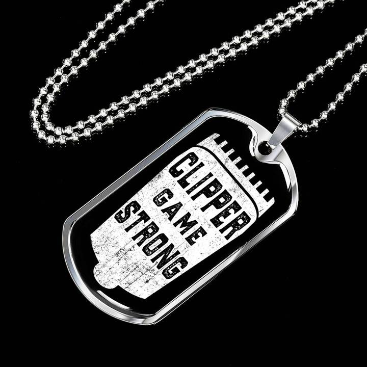clipper game strong barber dog tag 2