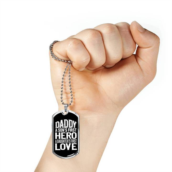dad a sons first hero a daughters first love dog tag 5