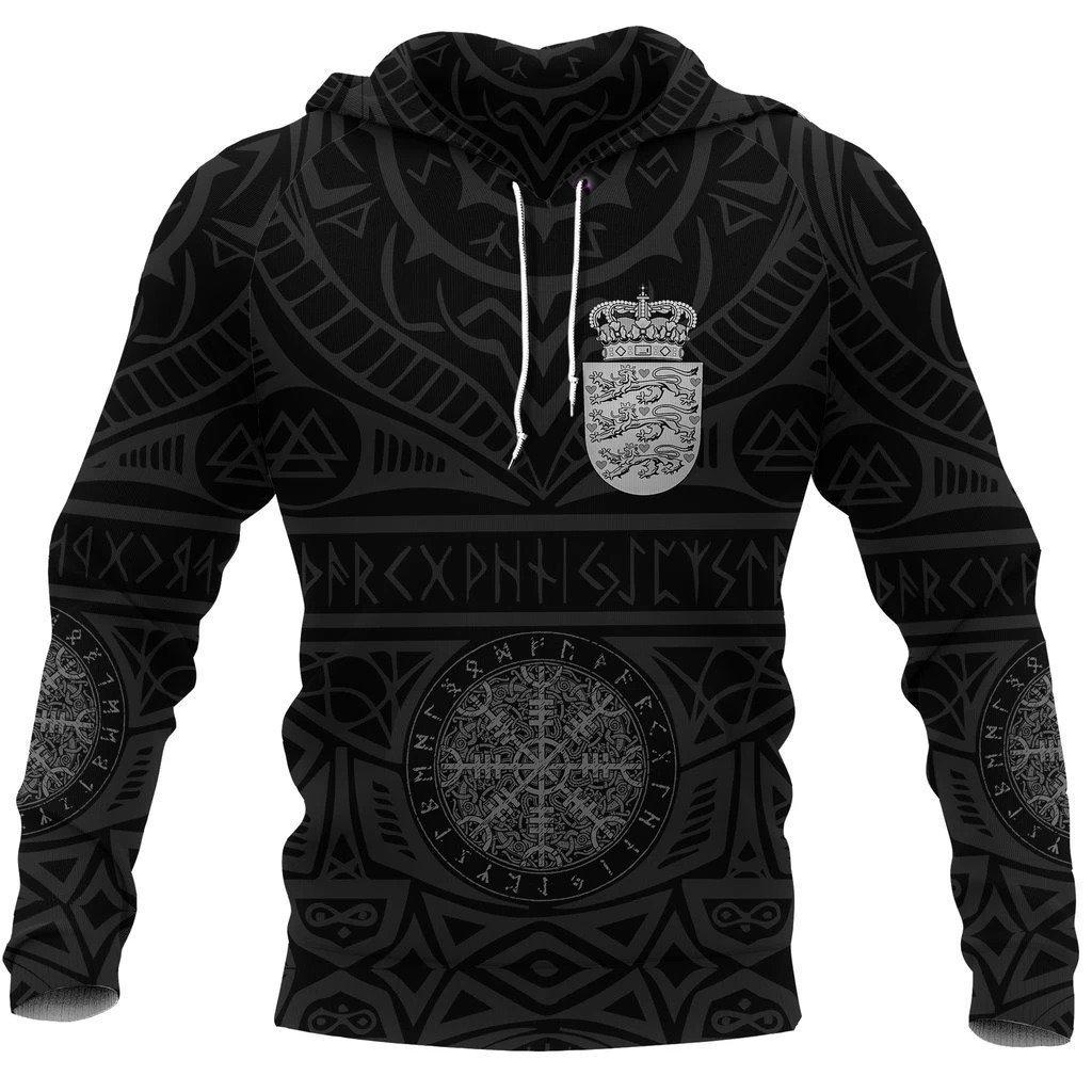 denmark vikings tattoo all over printed shirt 1