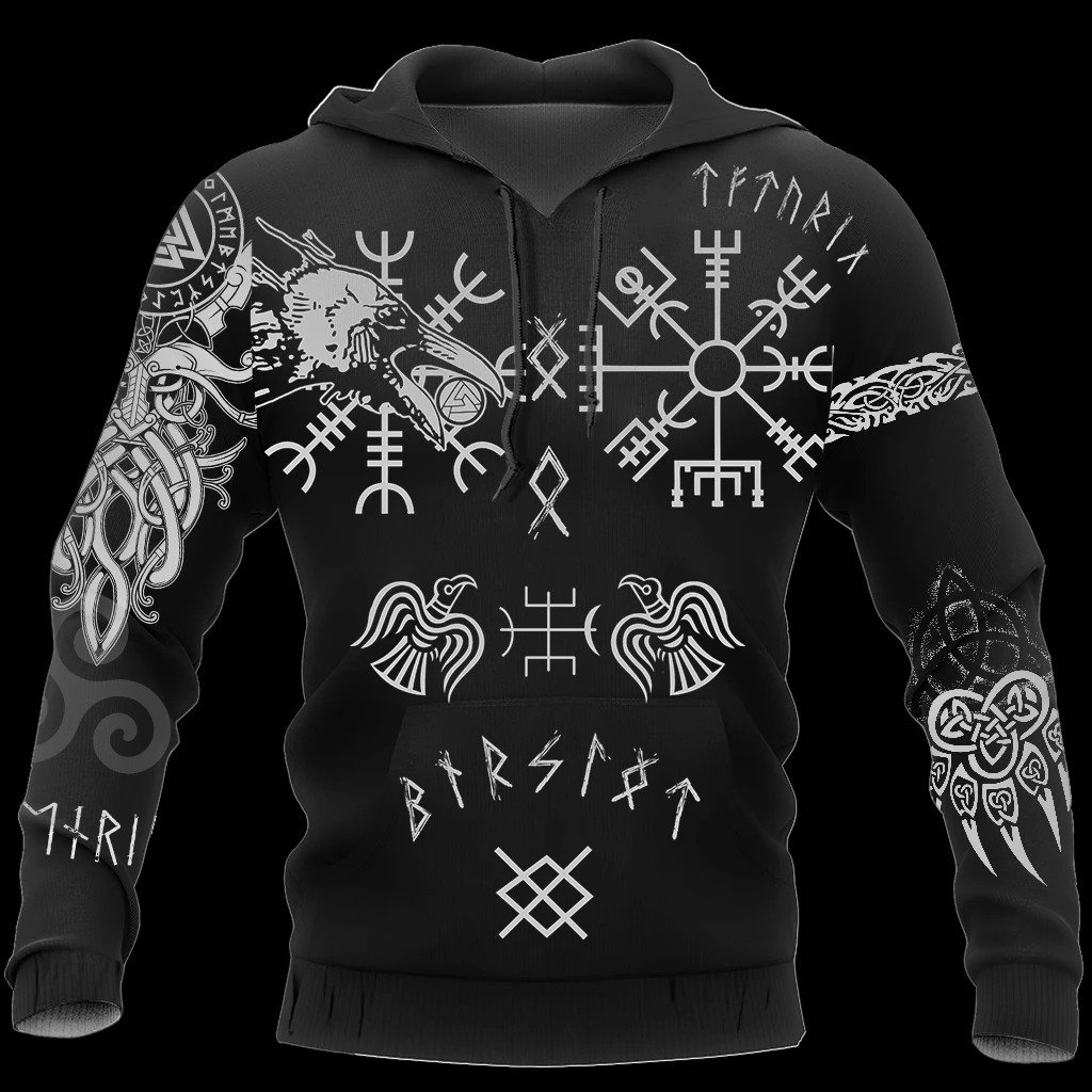 hugin and munin viking tattoo all over printed shirt 1