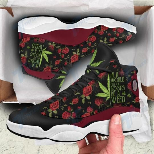 in a world full of rose be a weed all over printed air jordan 13 sneakers 1