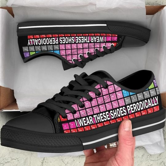 periodic table i wear these shoes periodically low top shoes 1