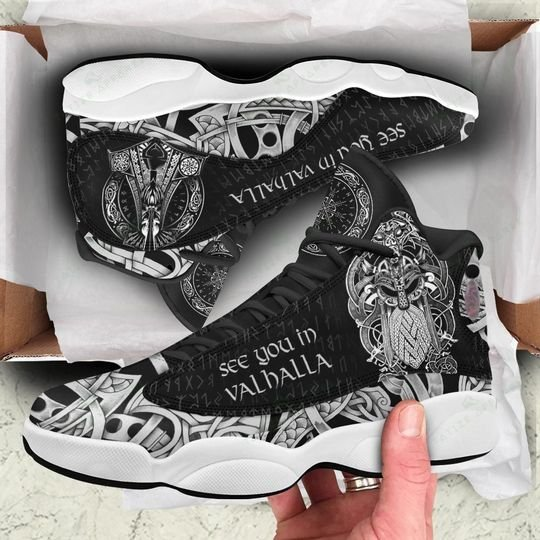 see you in valhalla viking all over printed air jordan 13 sneakers 1