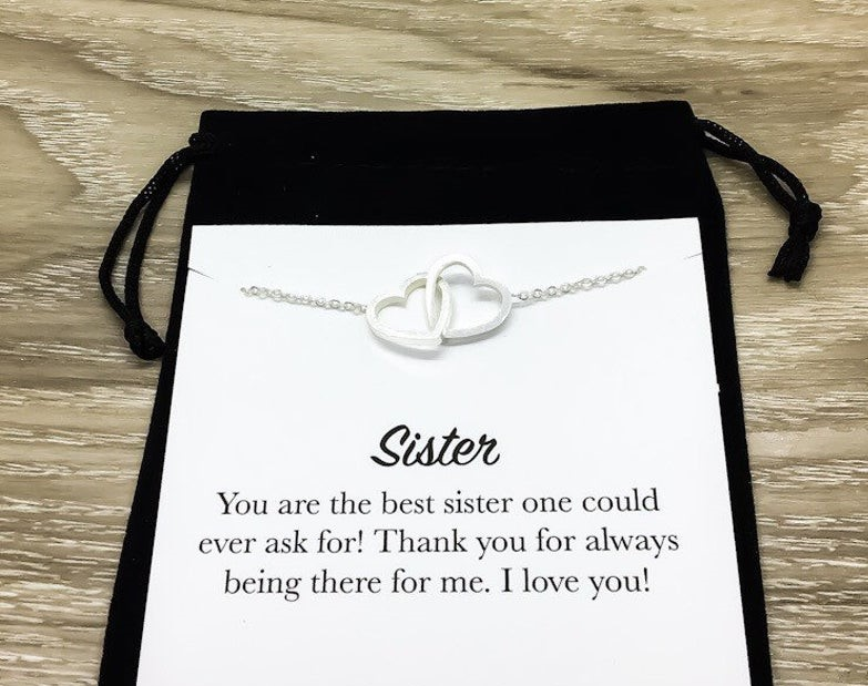 sister thank you for always being there for me i love you hearts necklace 4