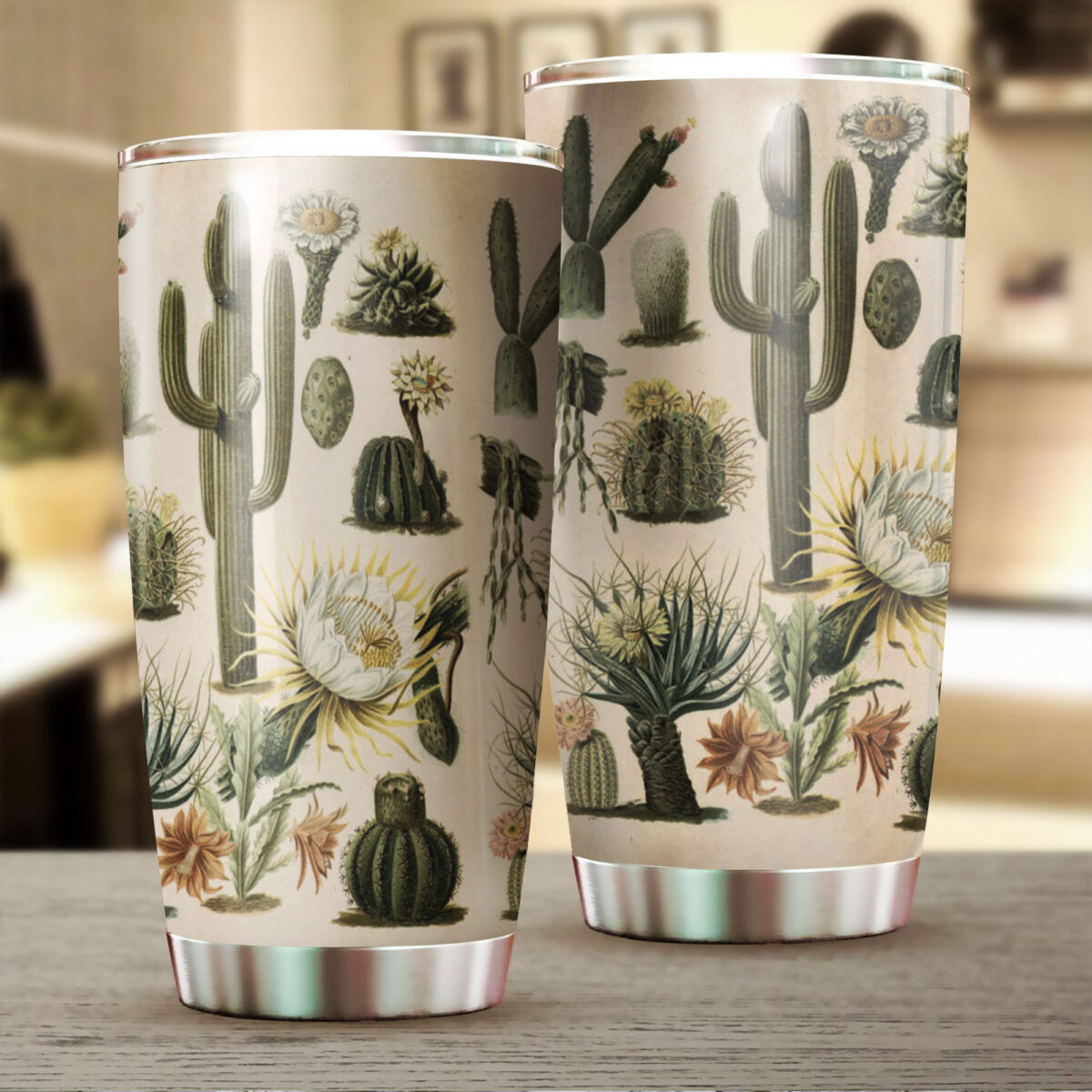 the cactus garden all over print stainless steel tumbler 2
