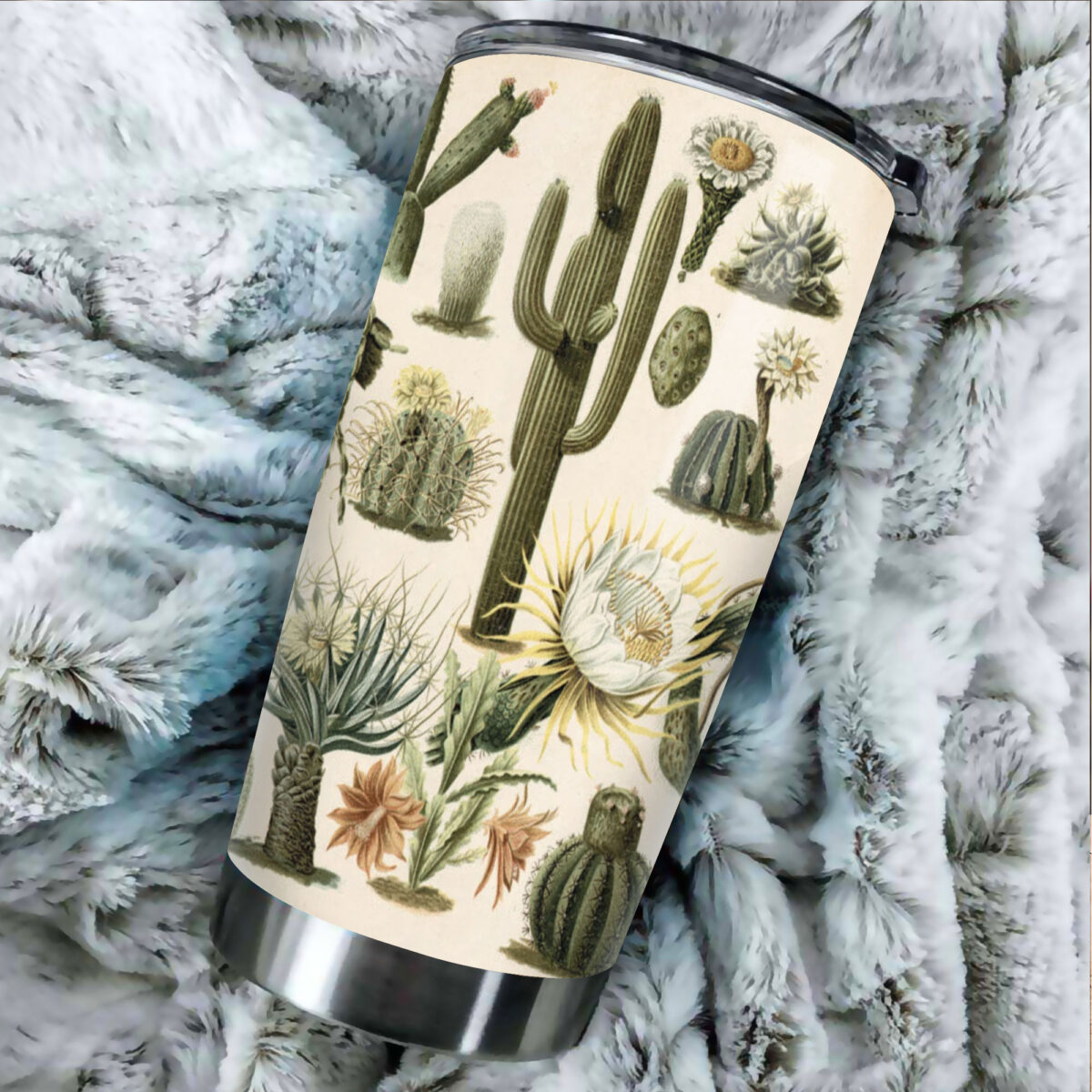 the cactus garden all over print stainless steel tumbler 4