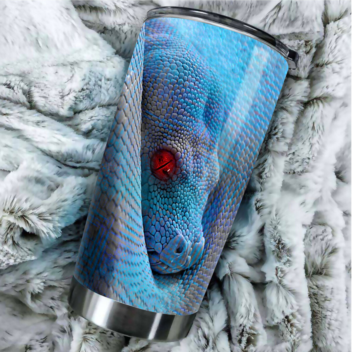 the green python all over print stainless steel tumbler 3
