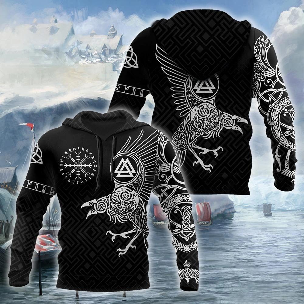 the ravens on vikings full printing shirt 1