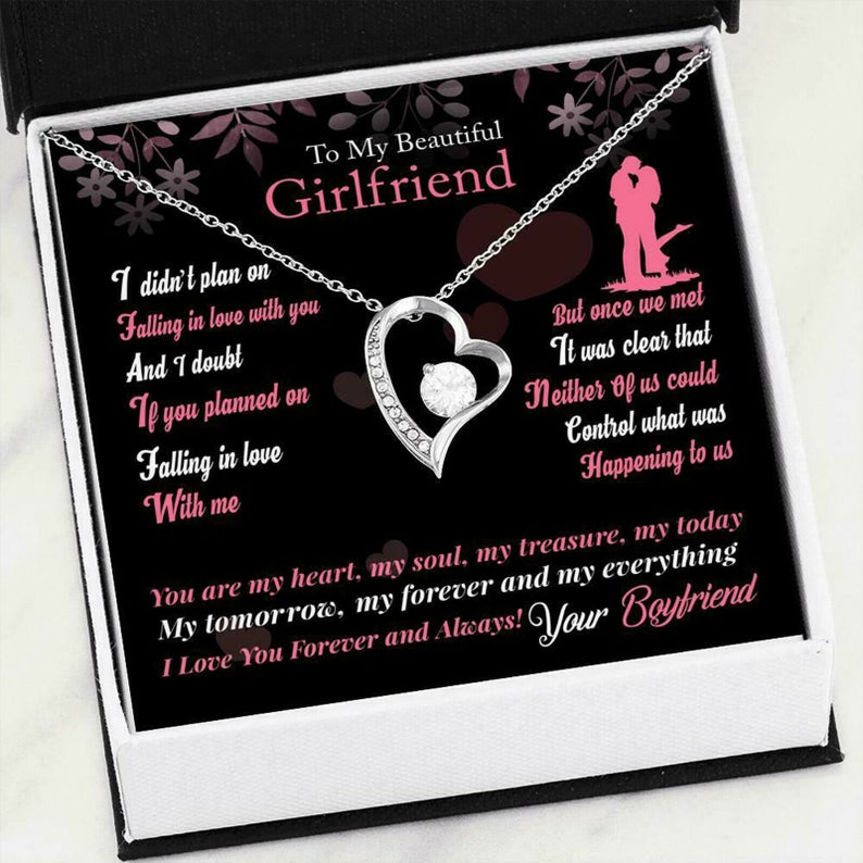 to my beautiful girlfriend i love you forever and always hearts necklace 2