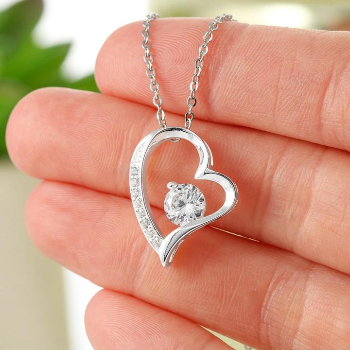 to my daughter together forever never apart maybe in distance love your mom hearts necklace 3