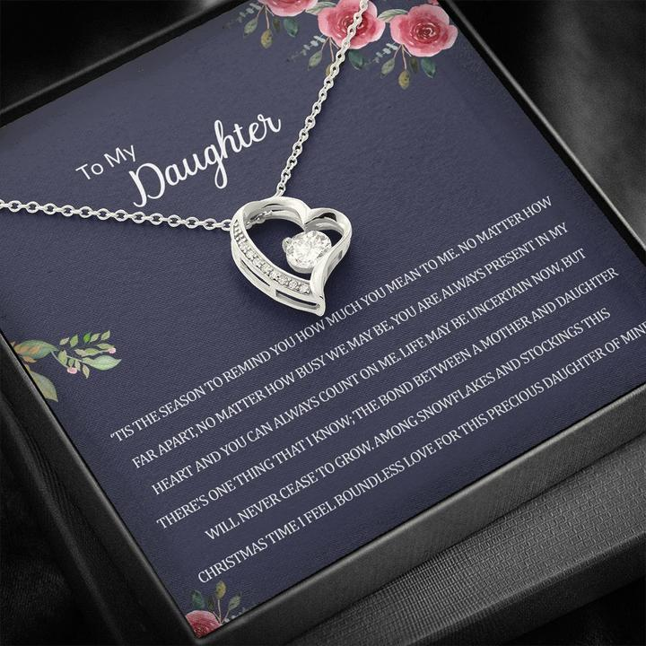 to my daughter you are always present in my heart hearts necklace 2