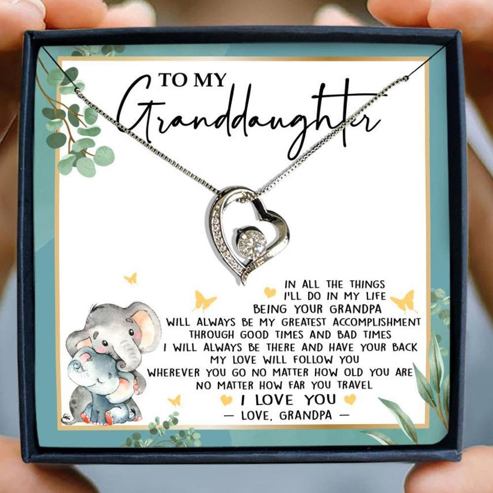 to my granddaughter in all the things ill do in my life love grandpa hearts necklace 2