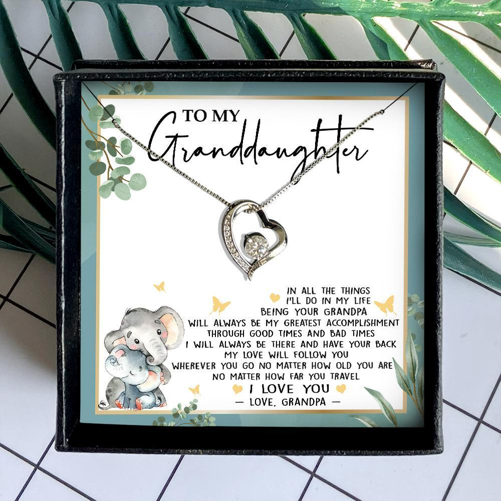 to my granddaughter in all the things ill do in my life love grandpa hearts necklace 3