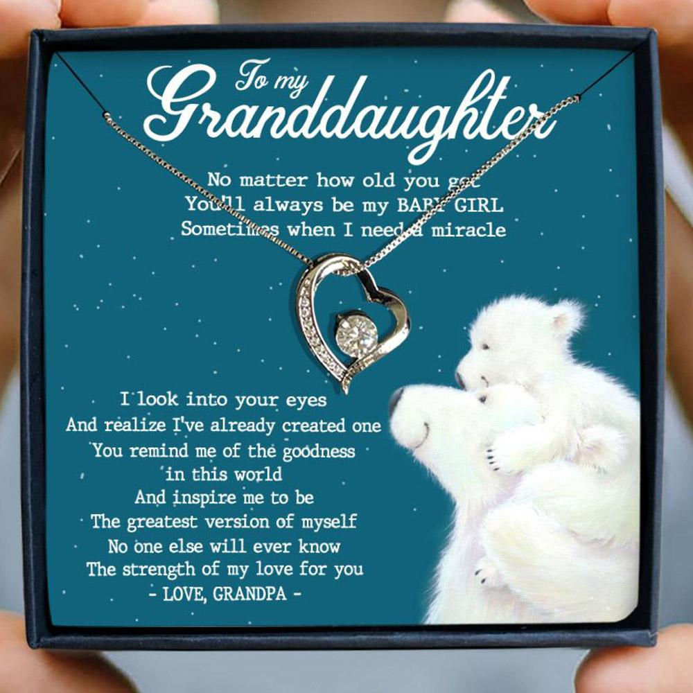 to my granddaughter no matter how old you get love grandpa hearts necklace 2