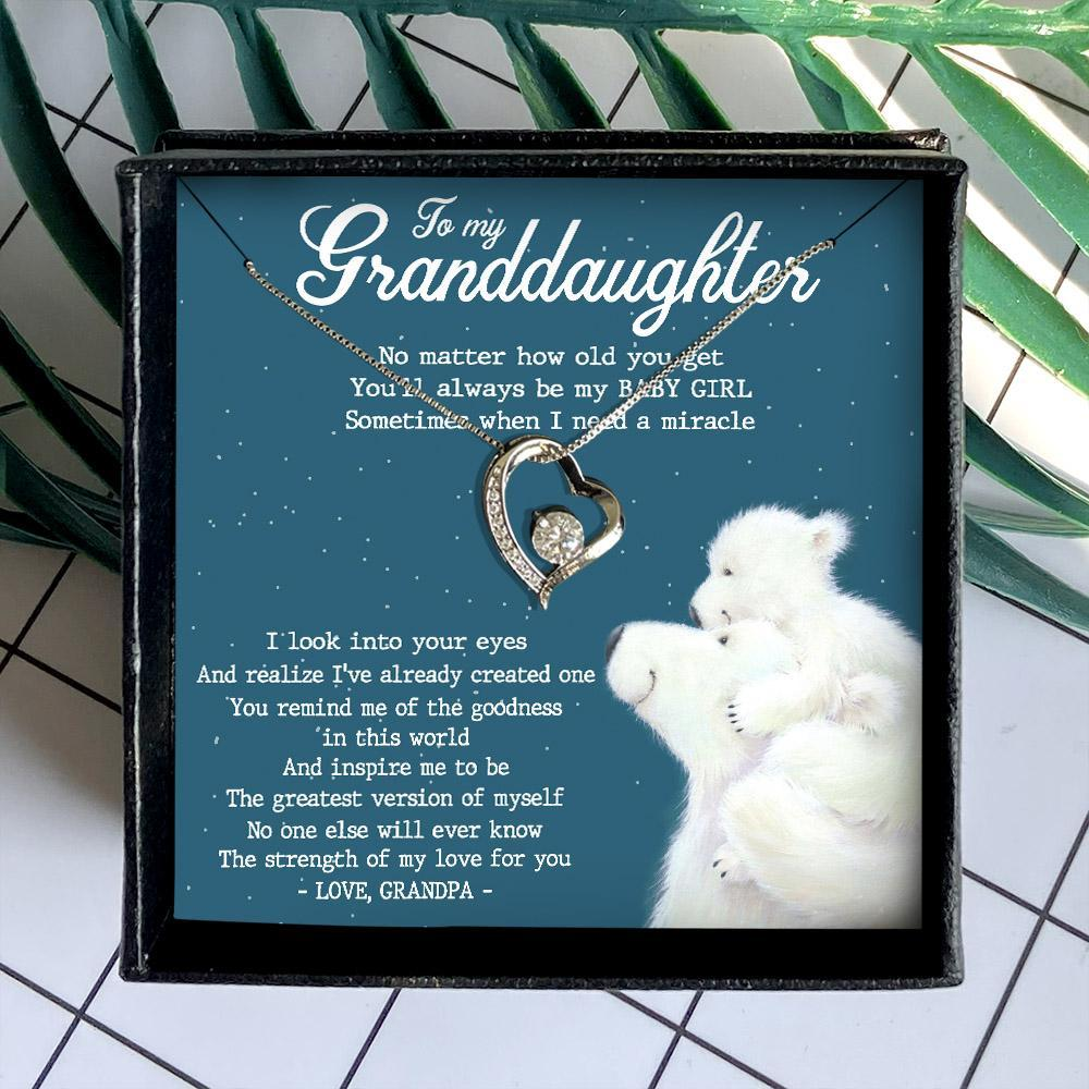 to my granddaughter no matter how old you get love grandpa hearts necklace 3