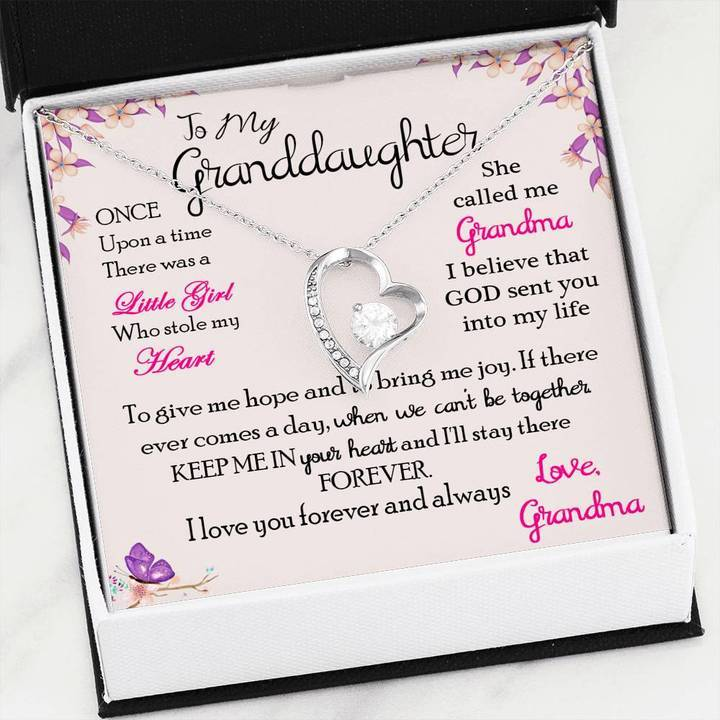 to my granddaughter once upon a time there was a little girl love grandma hearts necklace 2
