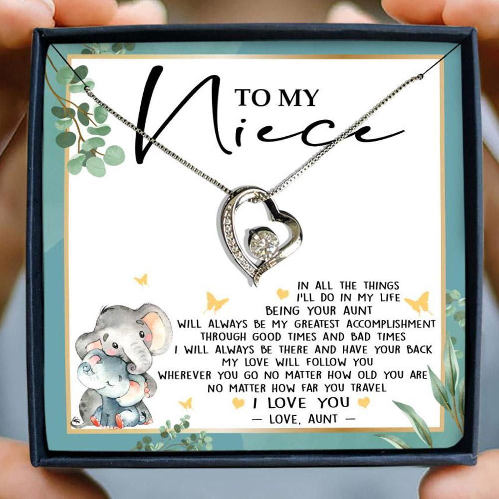 to my niece in all the things i'll do in my life your aunt hearts necklace 2