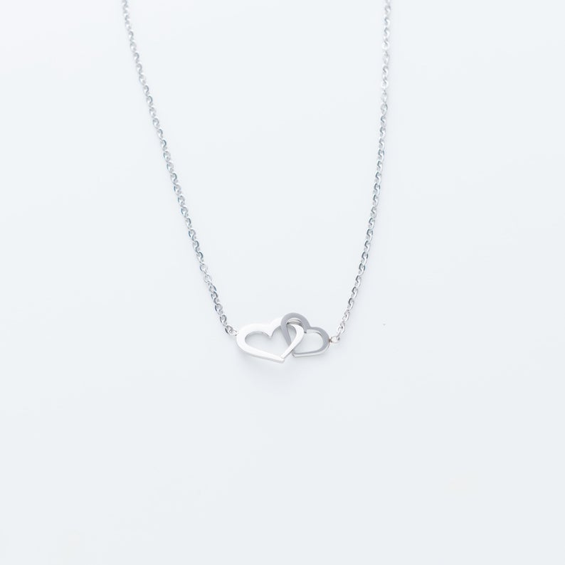 to my unbiological sister i love you your sister in law hearts necklace 4