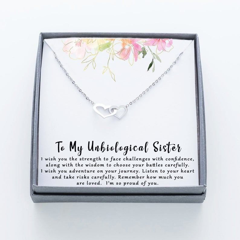to my unbiological sister im so proud of you hearts necklace 2