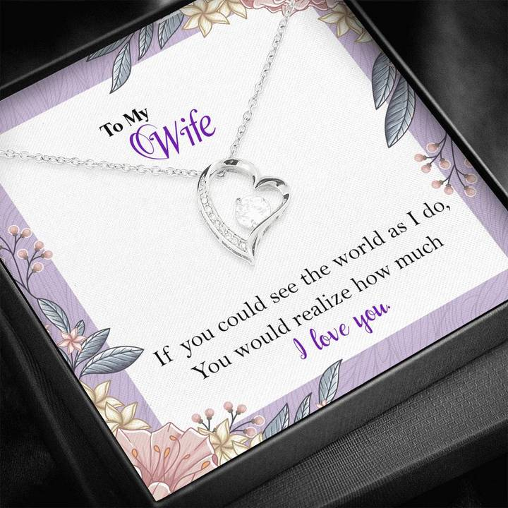 to my wife i love you your husband gift for valentines hearts necklace 2