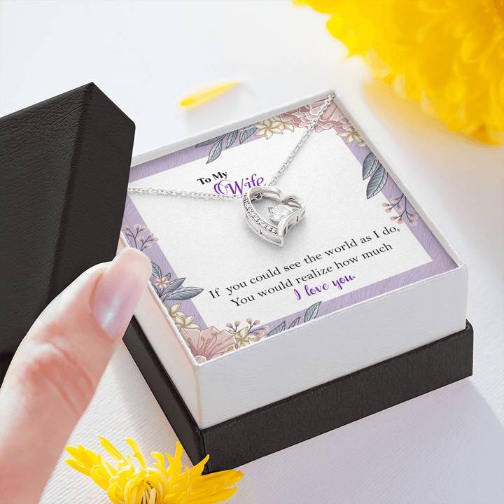 to my wife i love you your husband gift for valentines hearts necklace 4