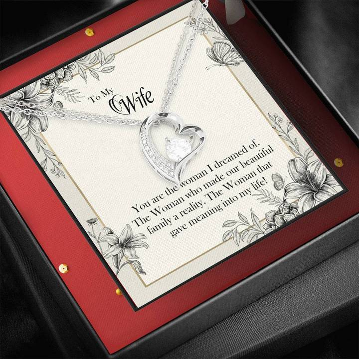 to my wife you are the woman i dreamed of hearts necklace 2