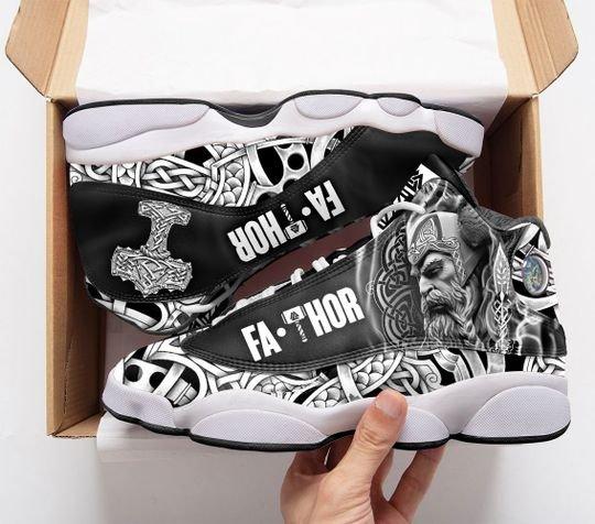 viking fathor all over printed air jordan 13 sneakers 1