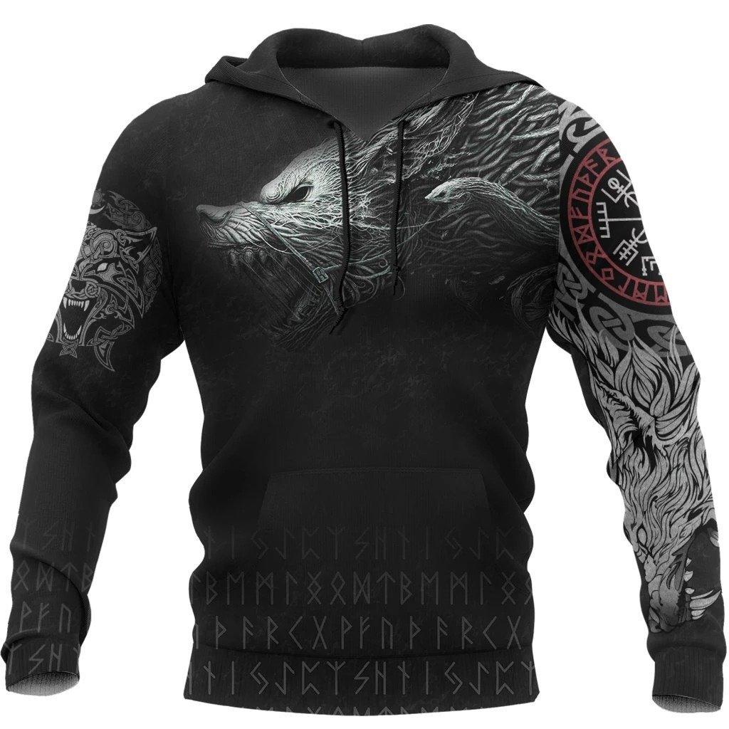 viking fenrir tattoo all over printed shirt 1