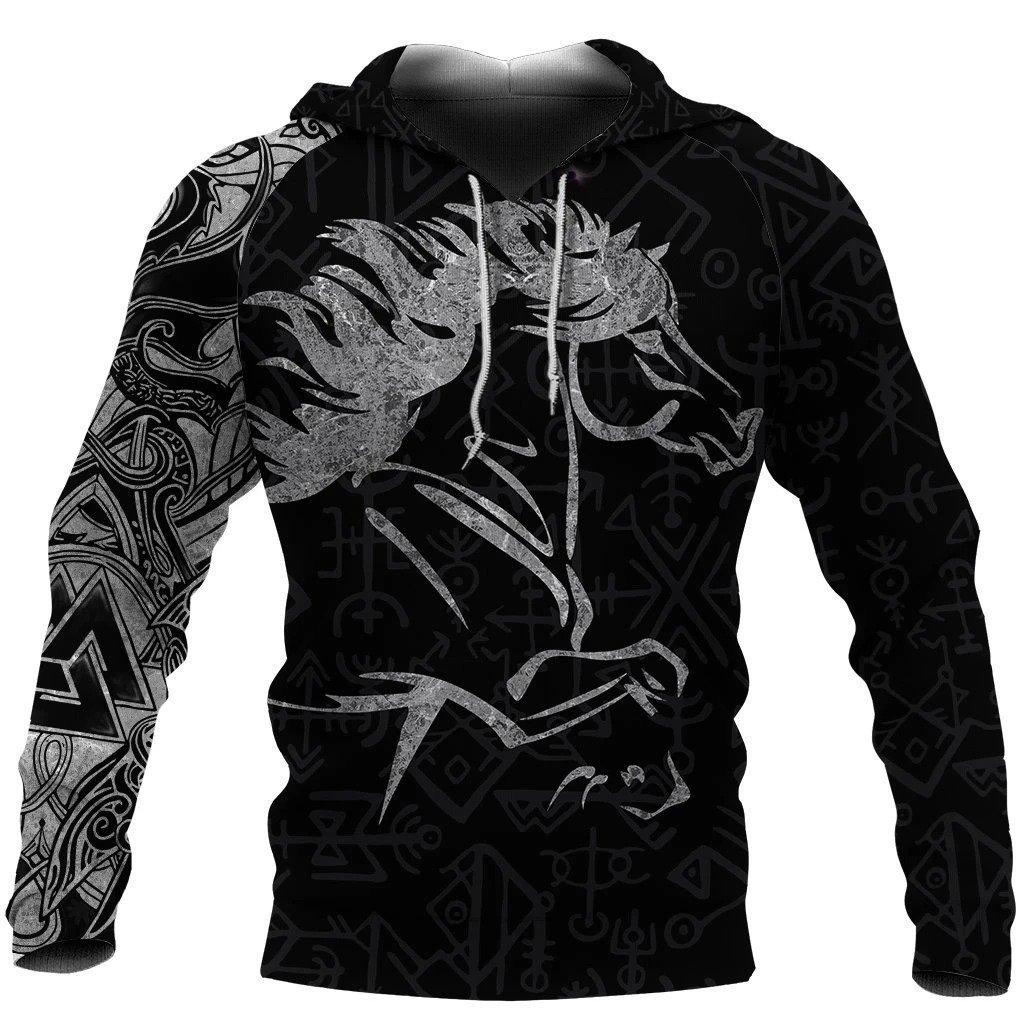 viking icelandic horse all over printed shirt 1